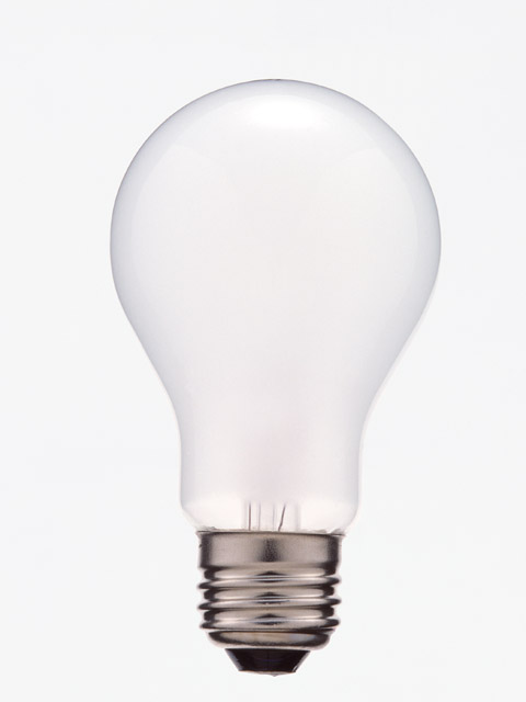 A light bulb isolated on a white background : Free Stock Photo