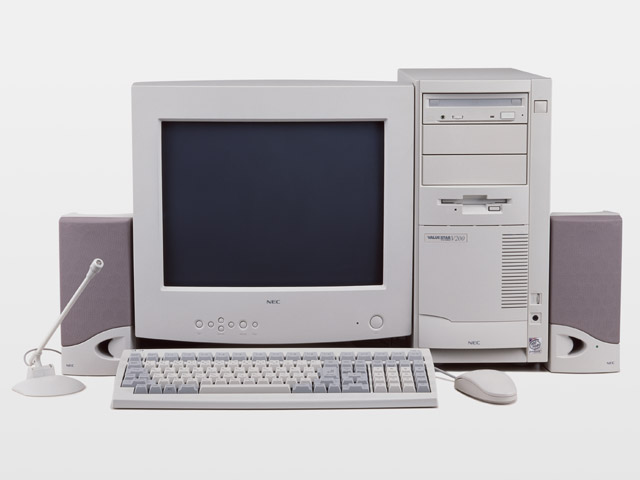 A desktop computer setup isolated on a white background : Free Stock Photo