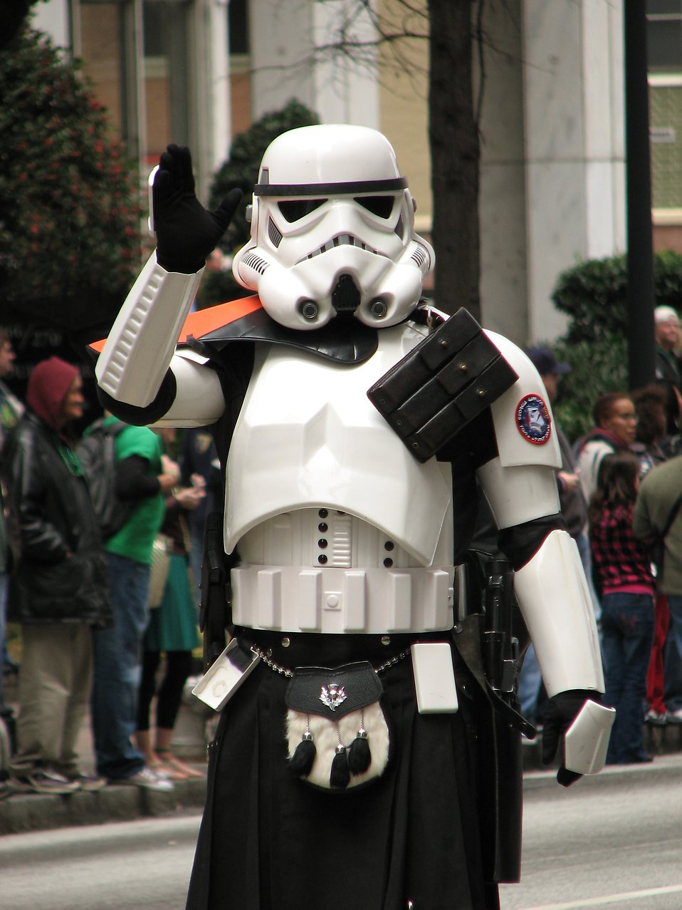 A Star Wars stormtrooper at the 2010 Atlanta Saint Patrick's Day Parade : Free Stock Photo