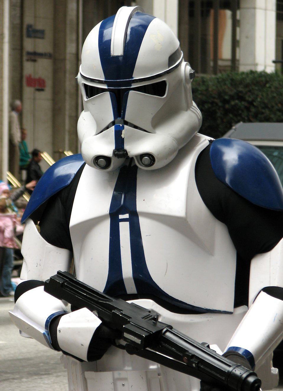 A Star Wars clone trooper at the 2010 Atlanta Saint Patrick's Day Parade : Free Stock Photo