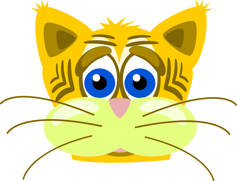 Illustration of a sad tiger cat : Free Stock Photo