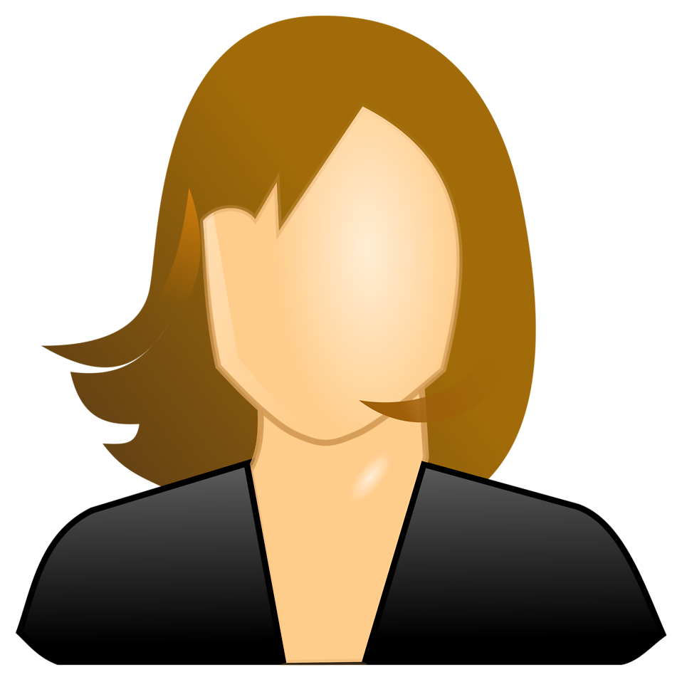 Illustration of a female user icon : Free Stock Photo