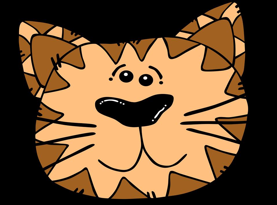 Illustration of a cartoon cat face : Free Stock Photo