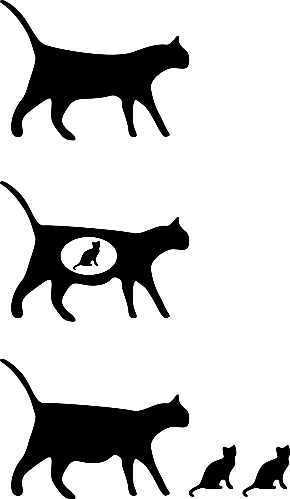 Illustration of cat icons : Free Stock Photo