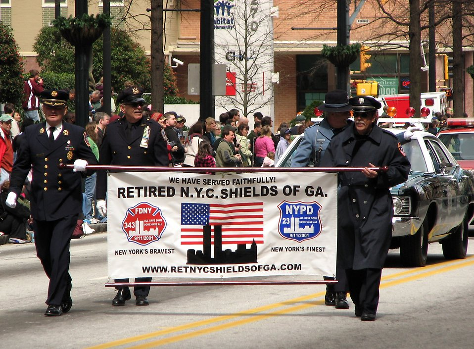 Police officers in the 2010 Saint Patricks Day Parade in Atlanta, Georgia : Free Stock Photo