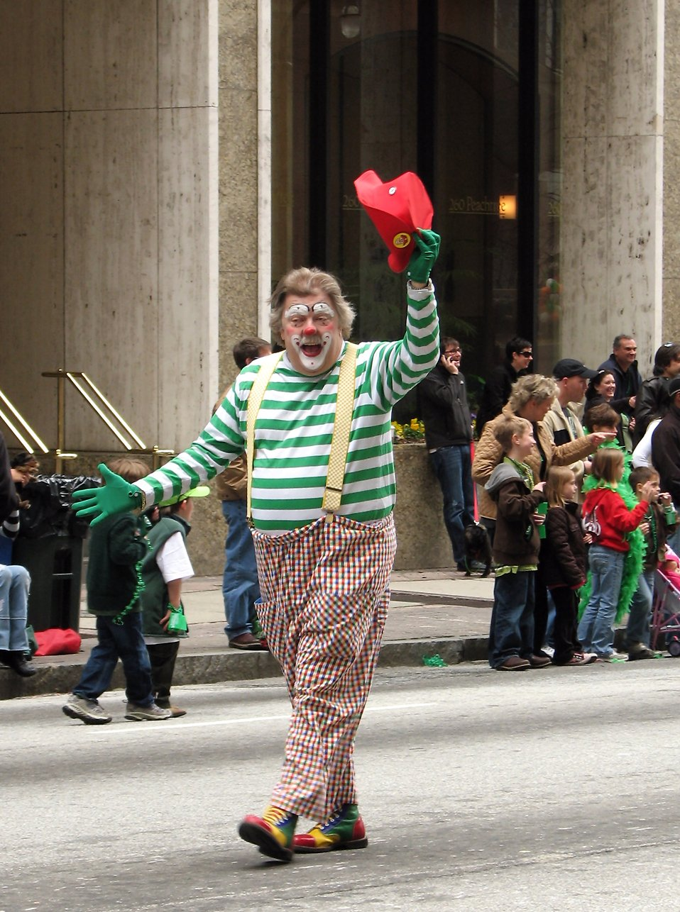 A clown in the 2010 Saint Patricks Day Parade in Atlanta, Georgia : Free Stock Photo