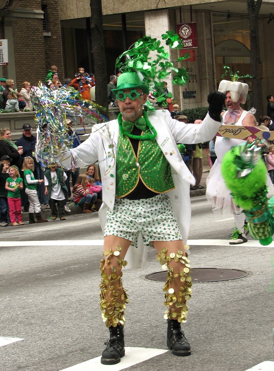 A man in a funny costume in the 2010 Saint Patricks Day Parade in Atlanta, Georgia : Free Stock Photo