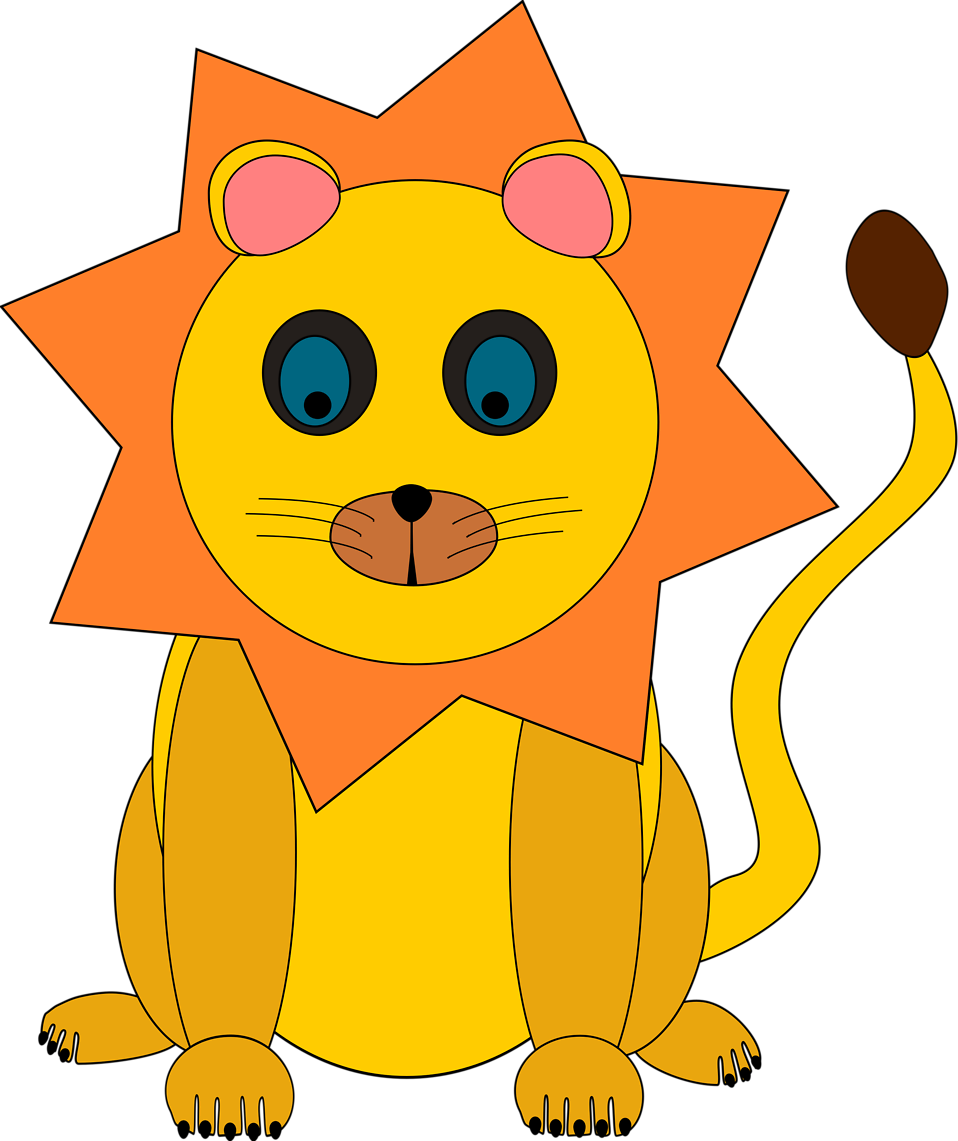 Illustration of a cartoon lion : Free Stock Photo