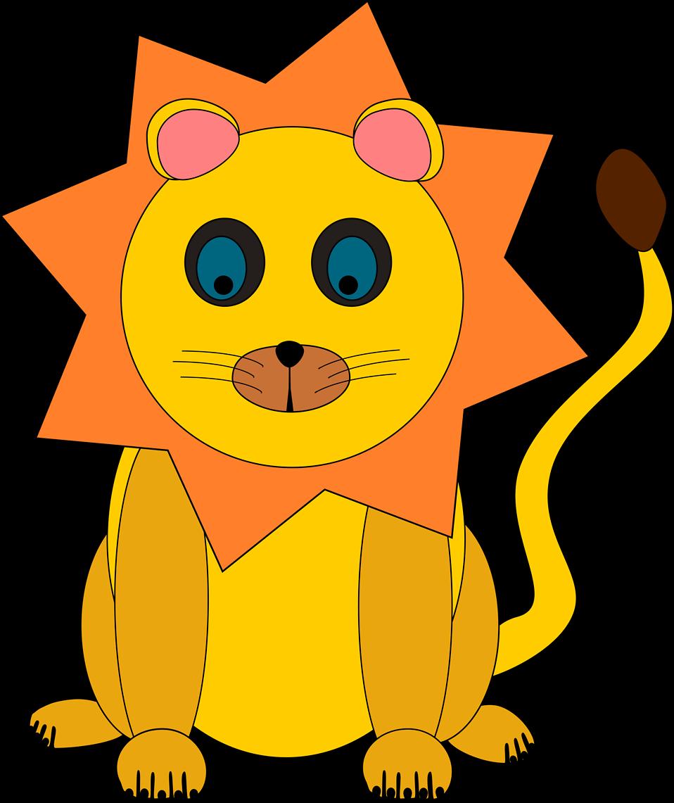Illustration of a cartoon lion : Free Stock Photo