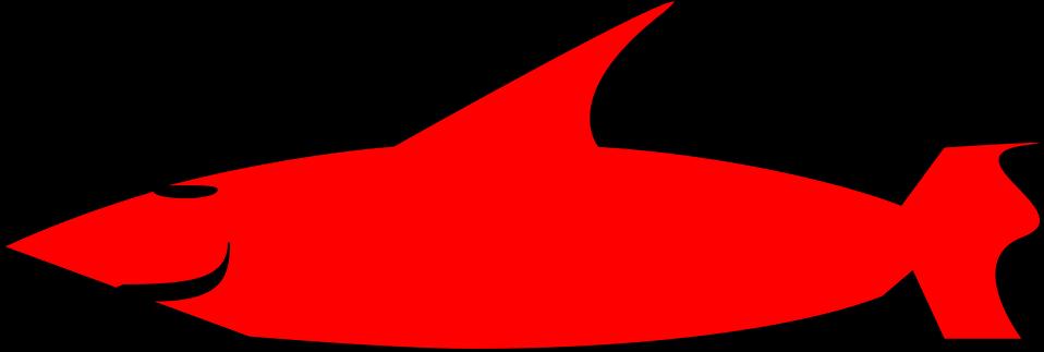 Illustration of a red cartoon shark : Free Stock Photo