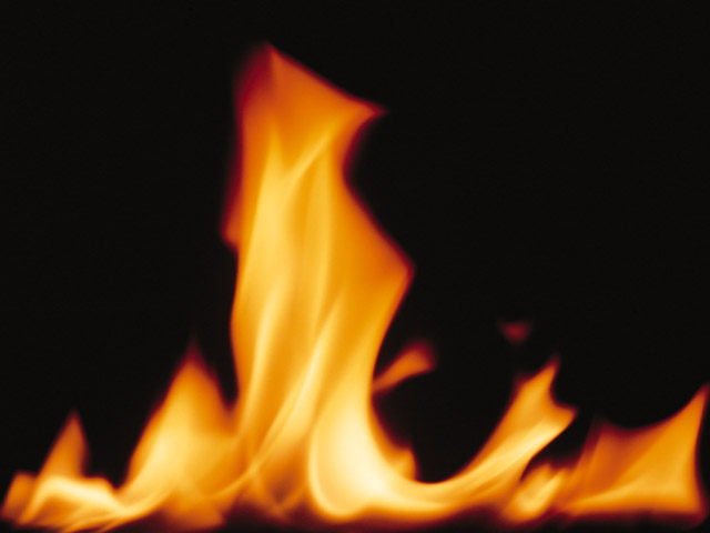 Close-up of a burning flame.