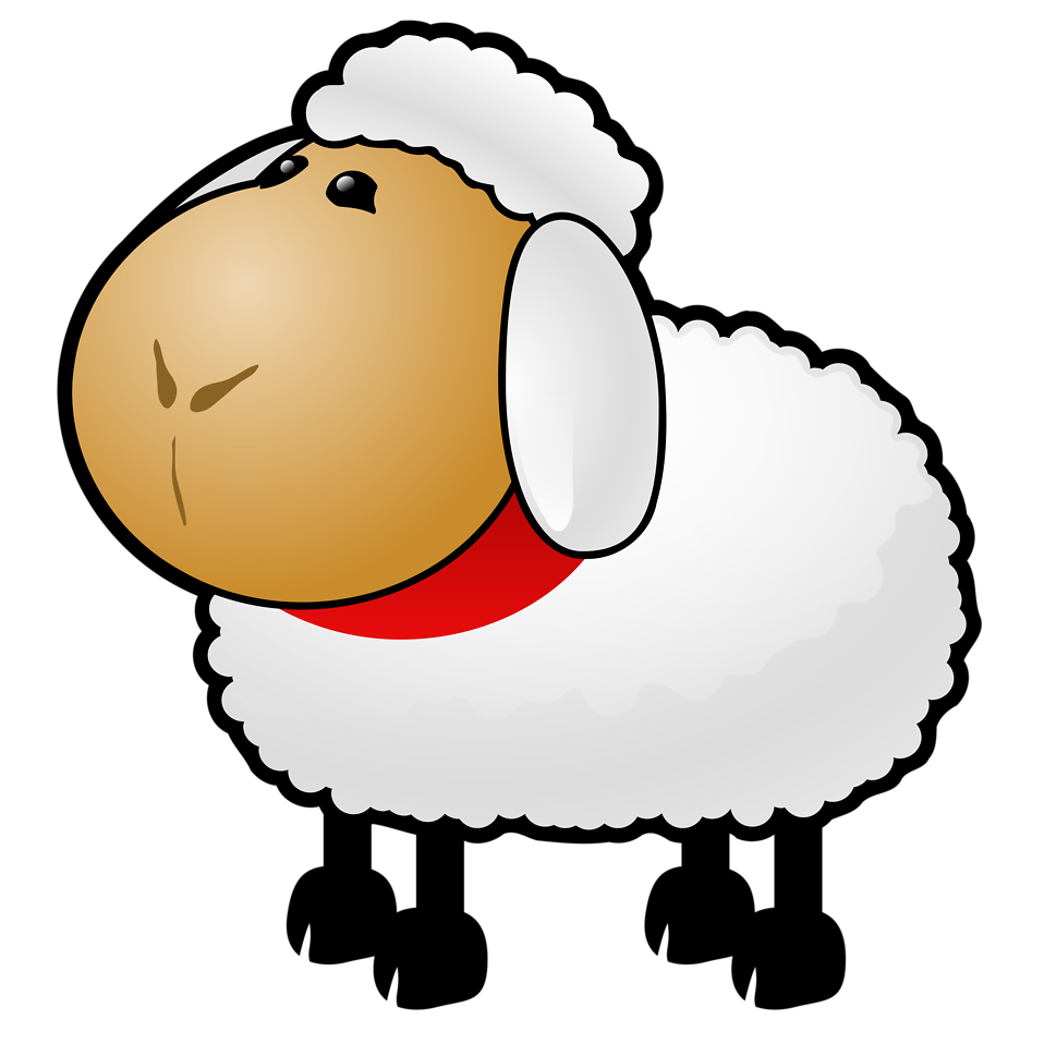 Illustration of a cartoon sheep : Free Stock Photo
