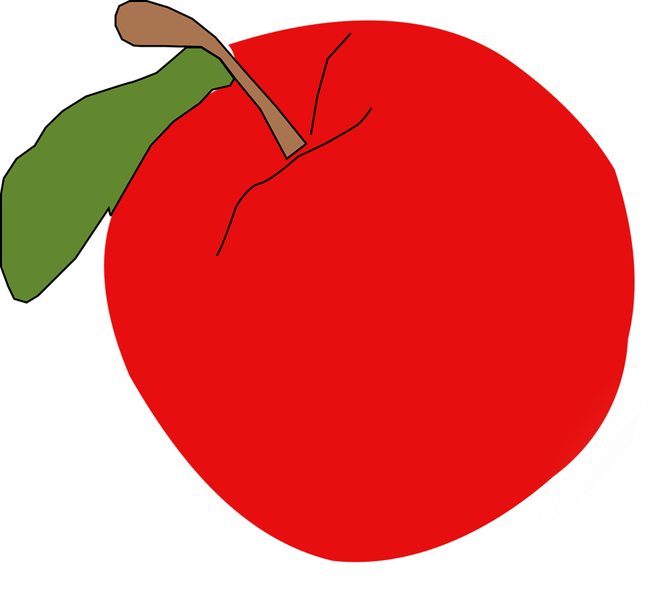 Illustration of an apple : Free Stock Photo