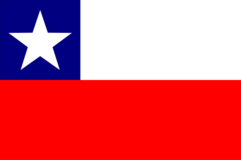 Illustration of a flag of Chile : Free Stock Photo
