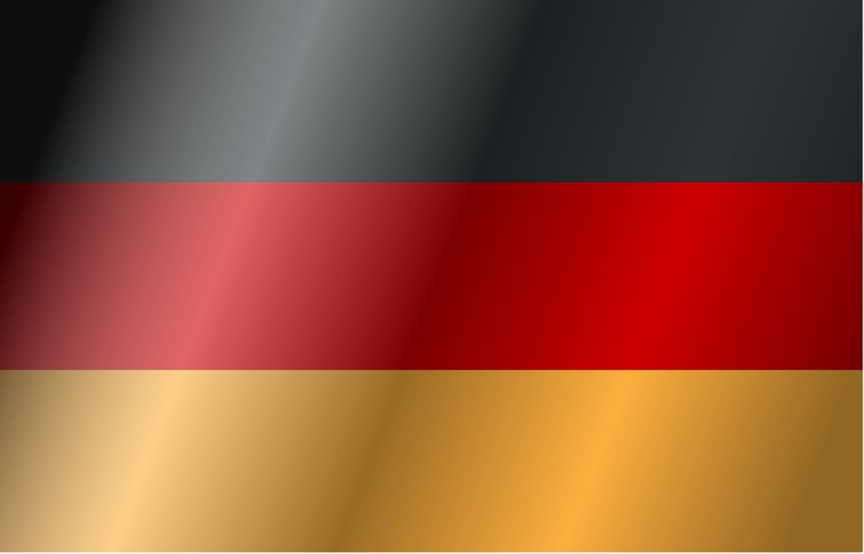 Illustration of a flag of Germany with wind : Free Stock Photo