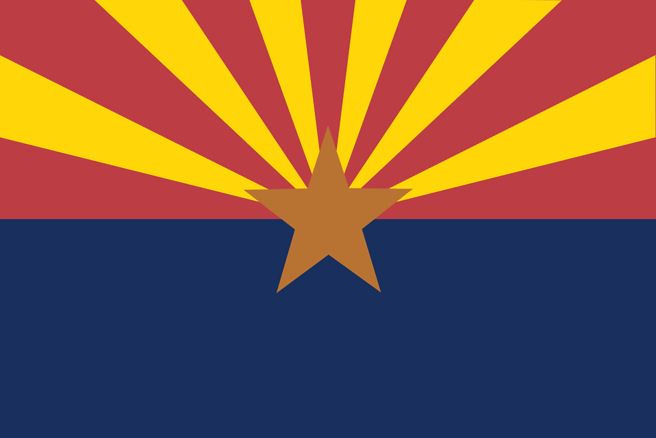 Illustration of the Arizona state flag : Free Stock Photo