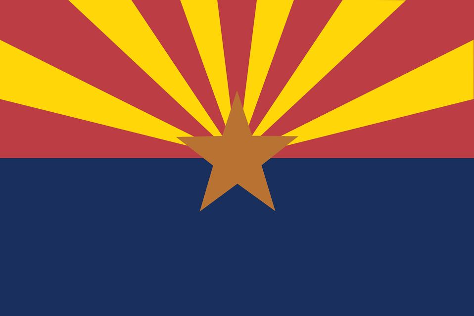 Illustration of the Arizona state flag : Free Stock Photo