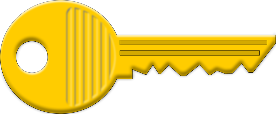 Illustration of a gold key : Free Stock Photo