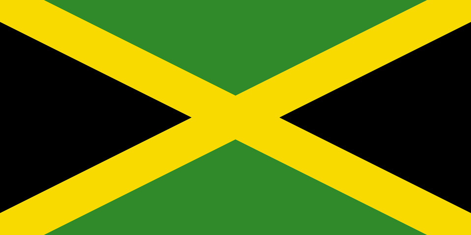 Illustration of a flag of Jamaica : Free Stock Photo