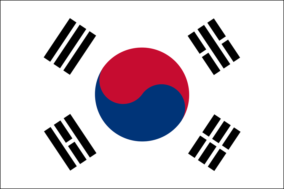 Illustration of a South Korean flag : Free Stock Photo
