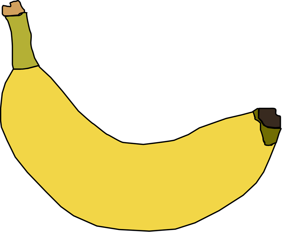 Illustration of a yellow banana : Free Stock Photo