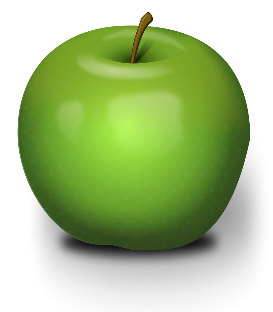 Illustration of a green apple : Free Stock Photo