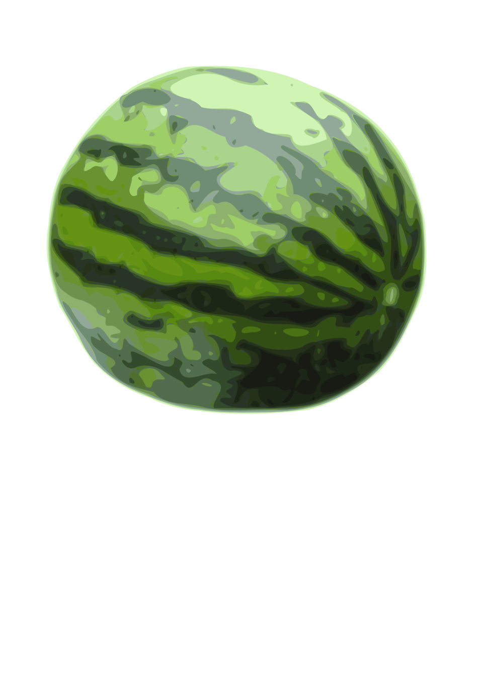 Illustration of a watermelon : Free Stock Photo