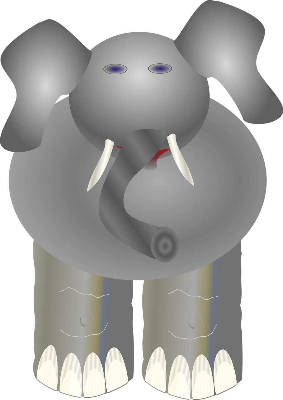 Illustration of a cartoon elephant : Free Stock Photo