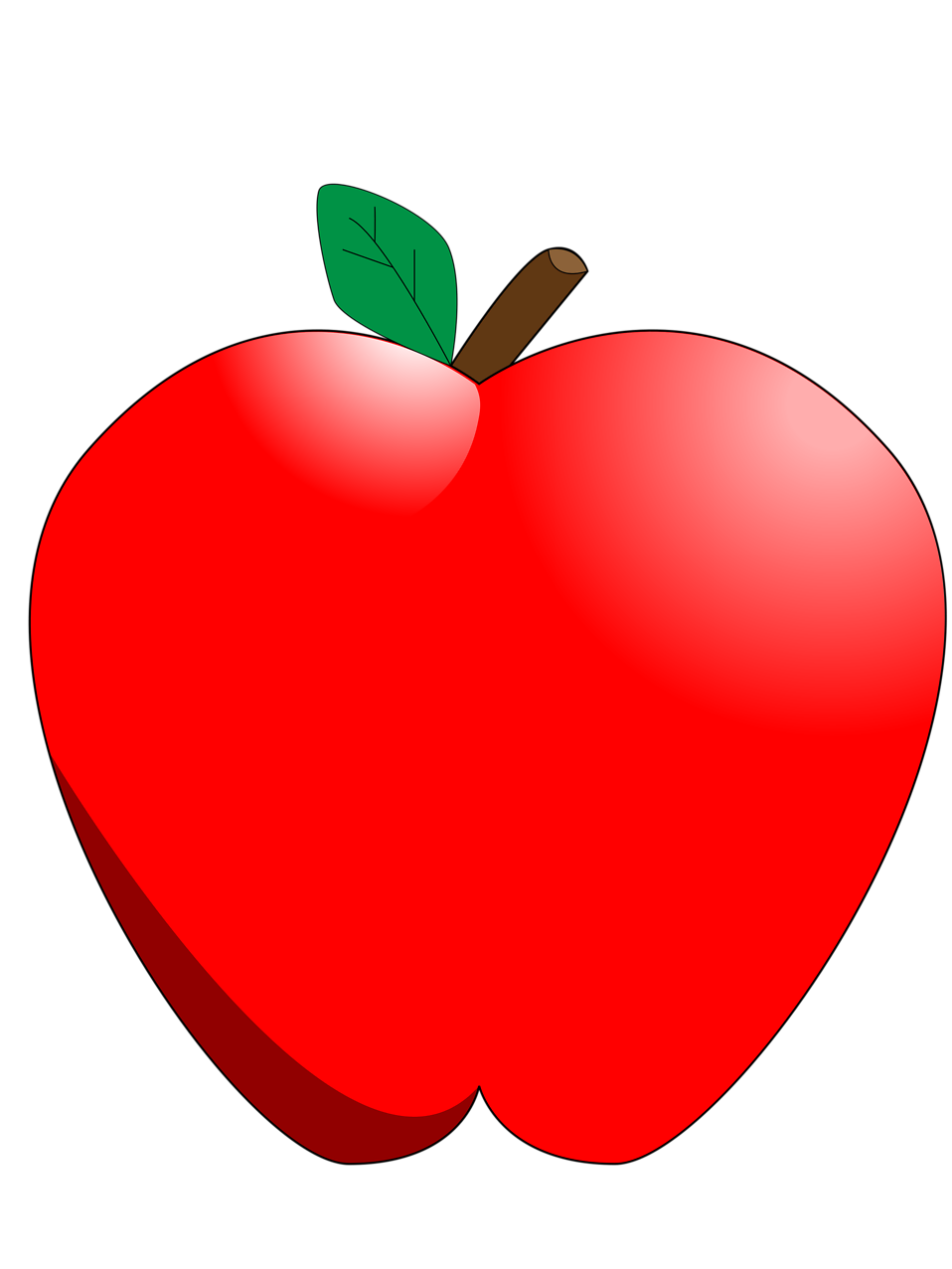 Red Apple Clip Art No Background Illustration of a red apple.