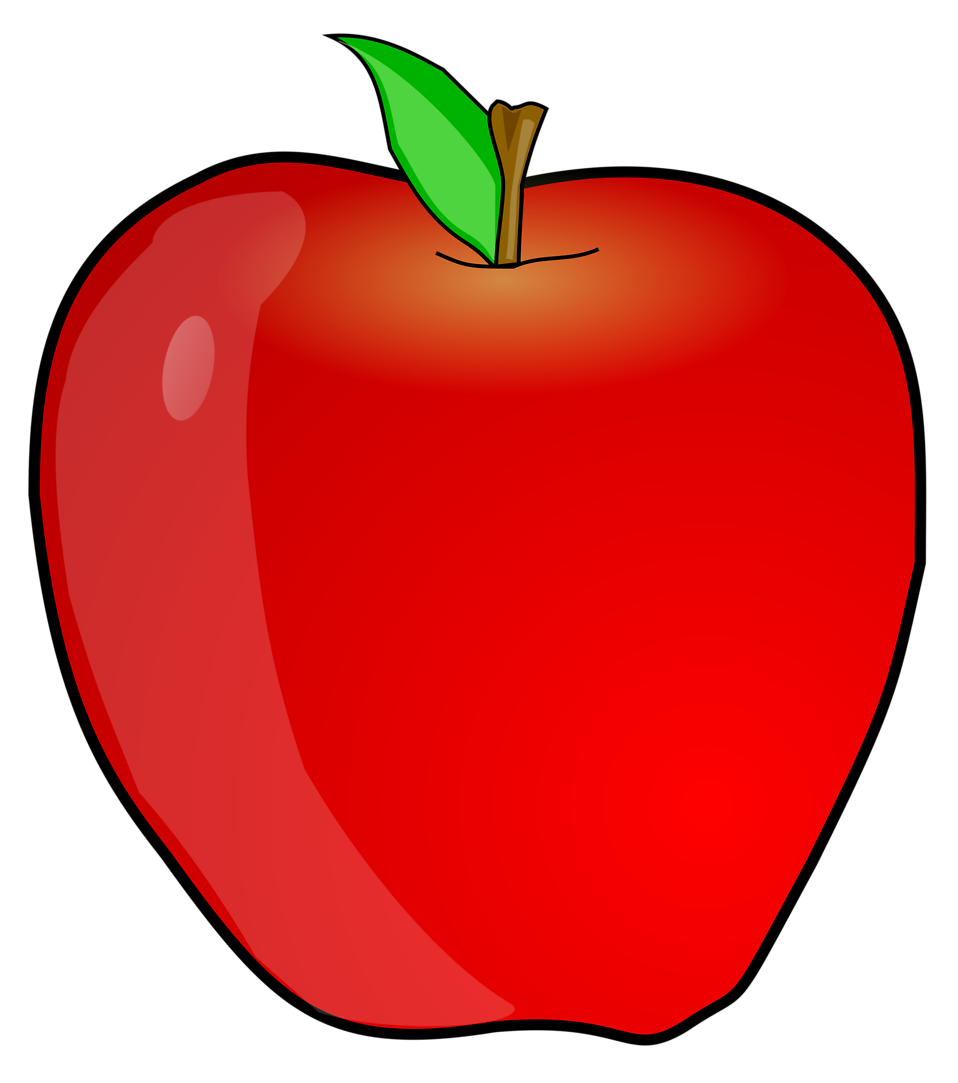 Illustration of a red apple : Free Stock Photo
