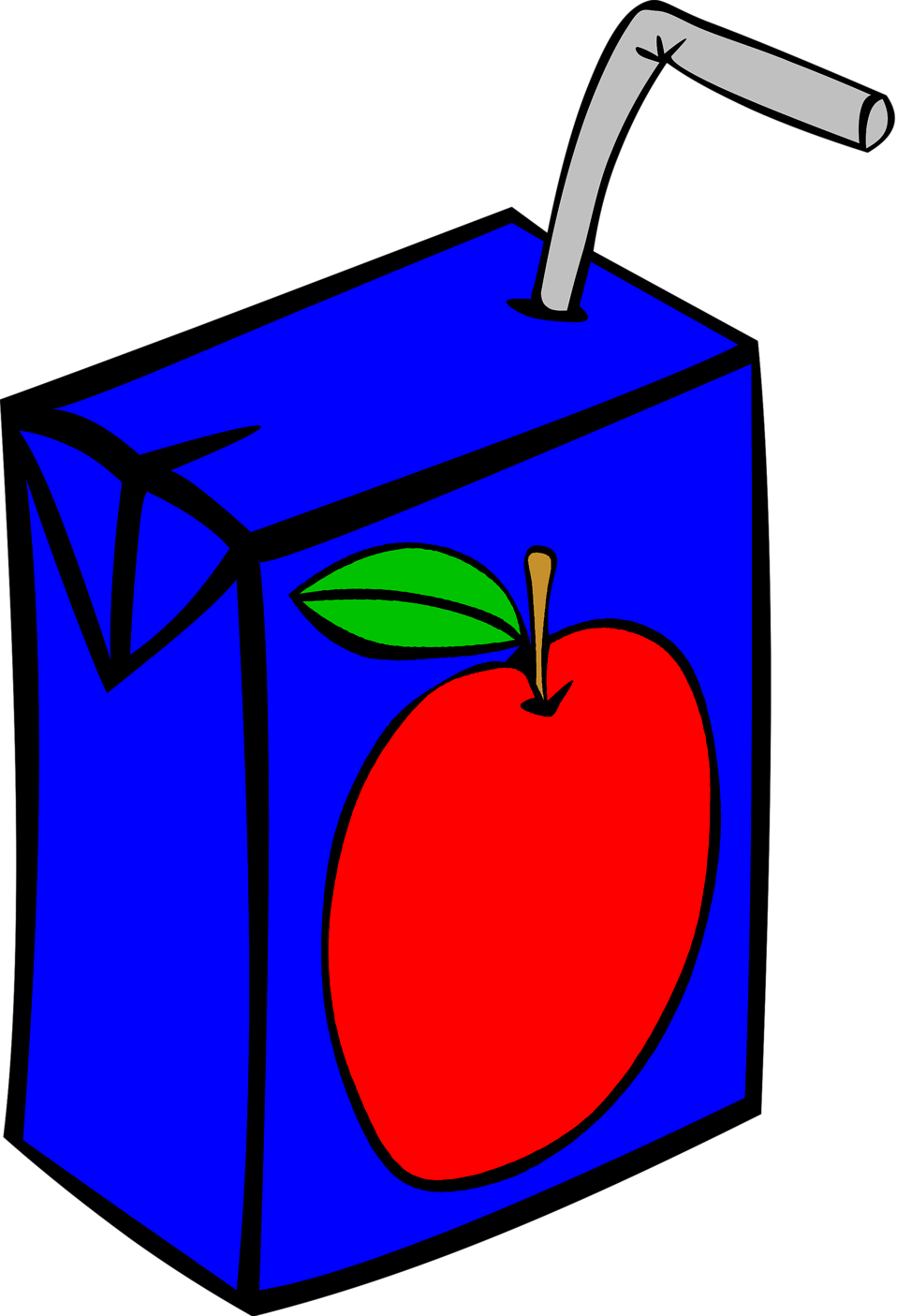 Illustration of a small apple juice box : Free Stock Photo