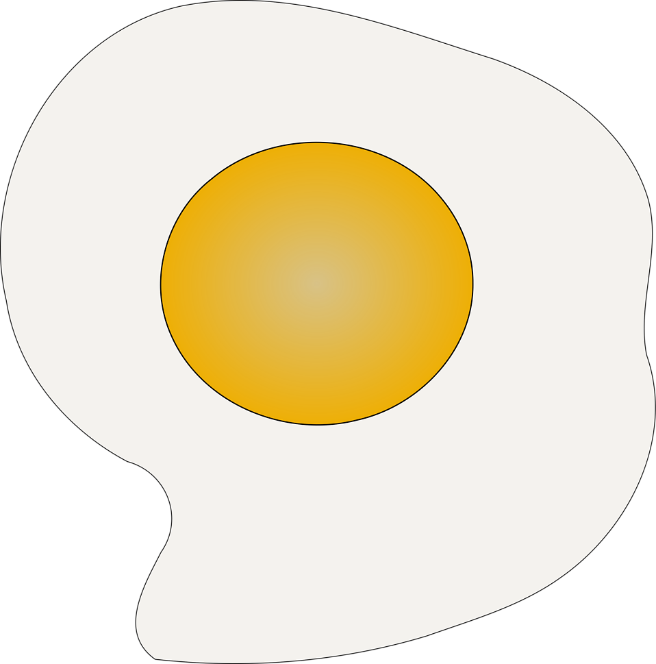 Illustration of a fried egg sunny side up : Free Stock Photo