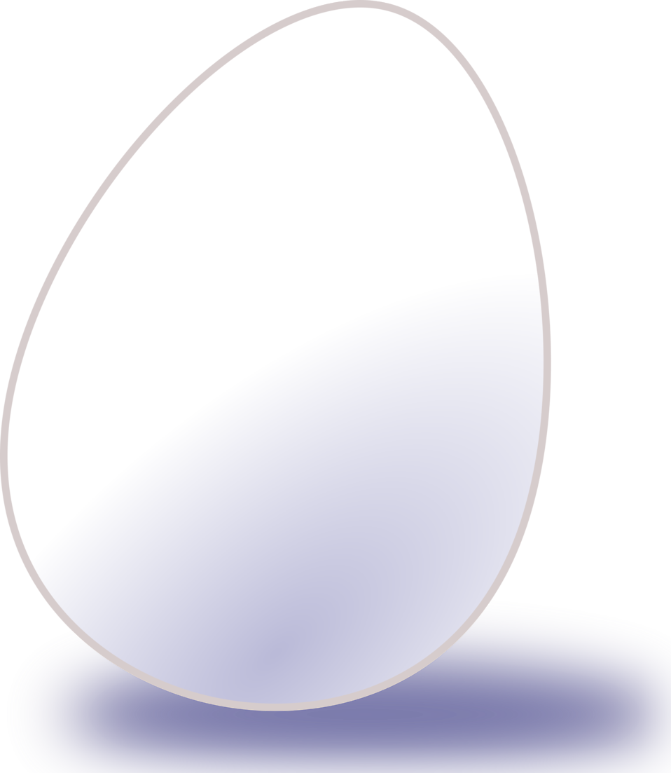 Illustration of a white egg : Free Stock Photo