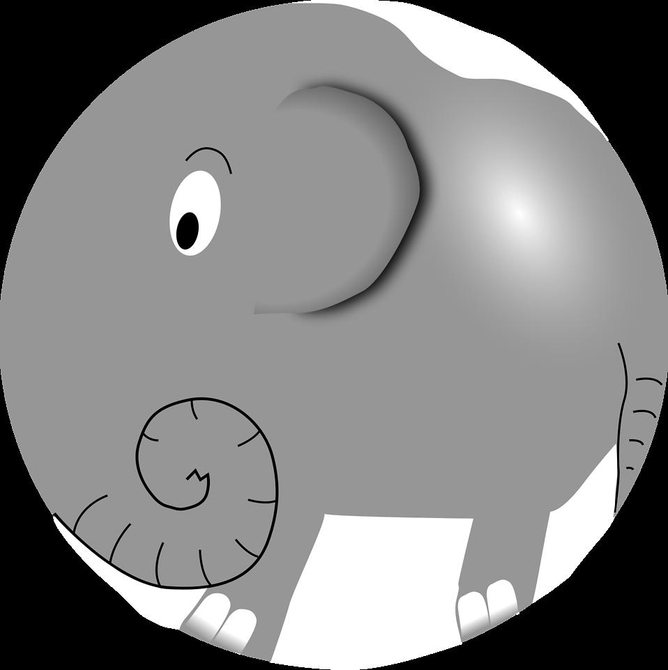 elephant free stock photo illustration of a cartoon elephant
