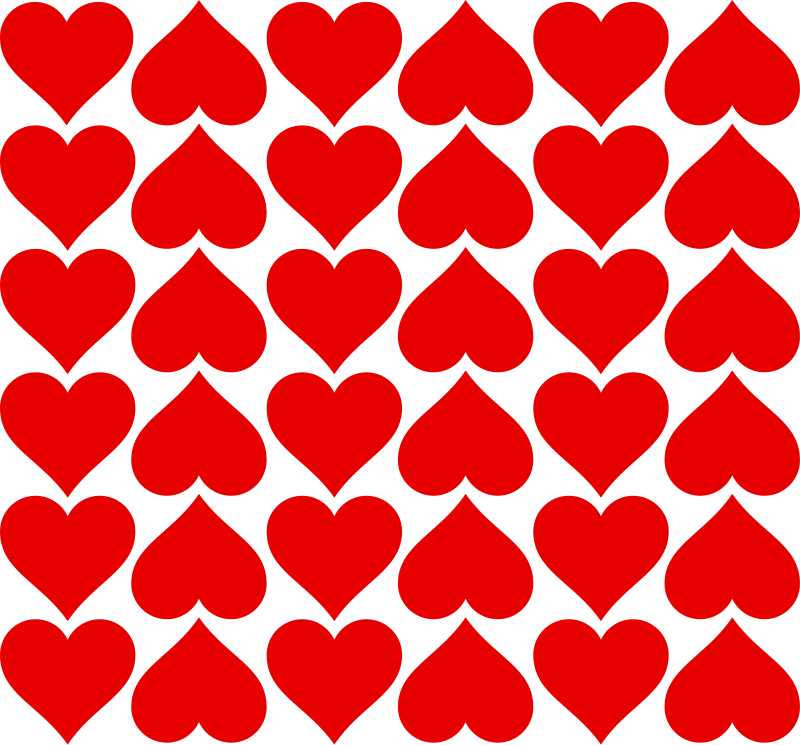 Illustration of red heart tiles : Free Stock Photo