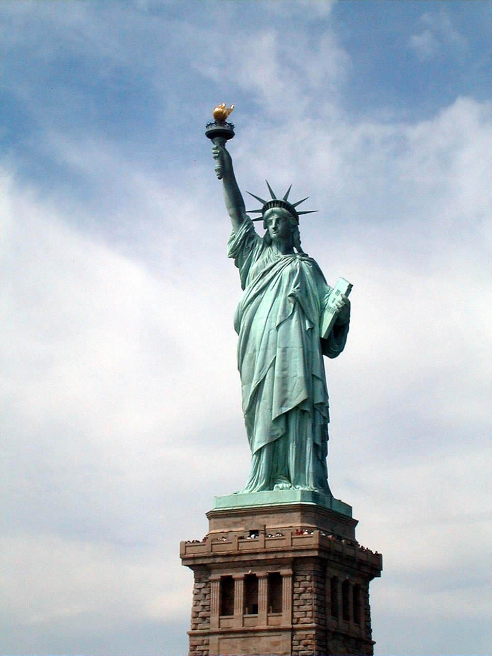 The Statue of Liberty monument.