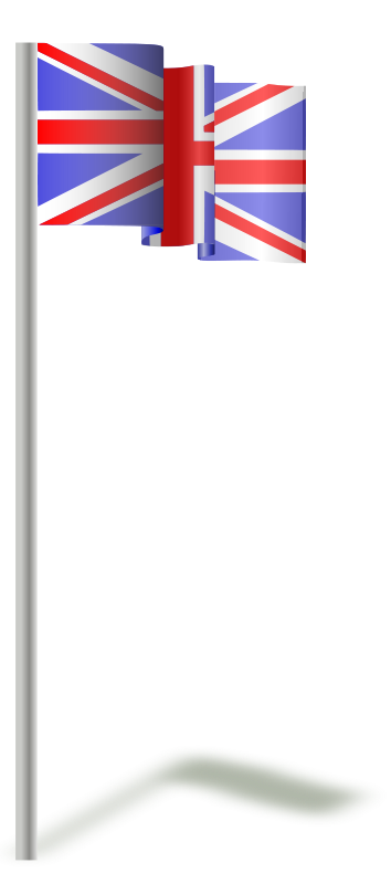 Illustration of a UK flag on a flagpole : Free Stock Photo