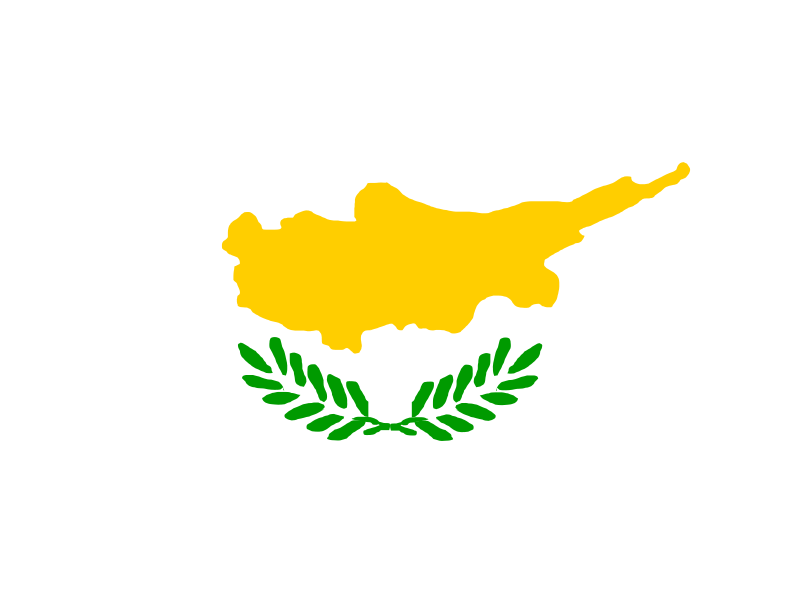 Illustration of a flag of Cyprus : Free Stock Photo
