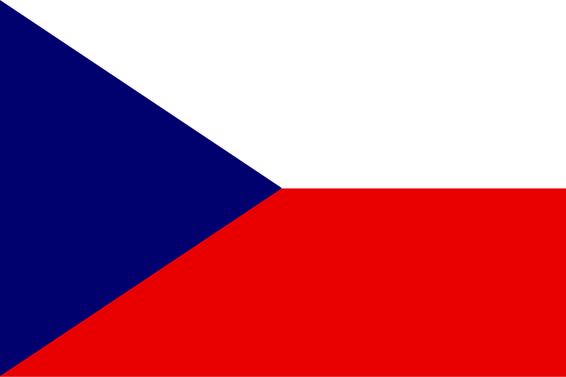 Illustration of a flag of the Czech Republic : Free Stock Photo