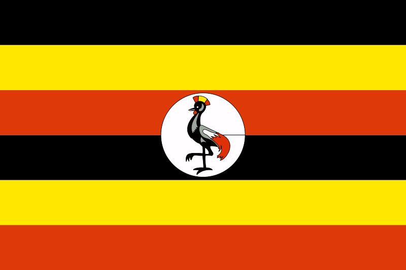 Illustration of a flag of Uganda : Free Stock Photo