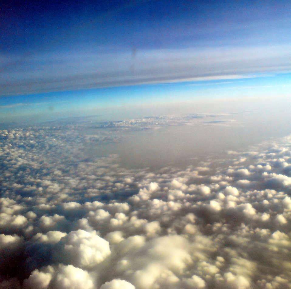 View of clouds from an airplane : Free Stock Photo