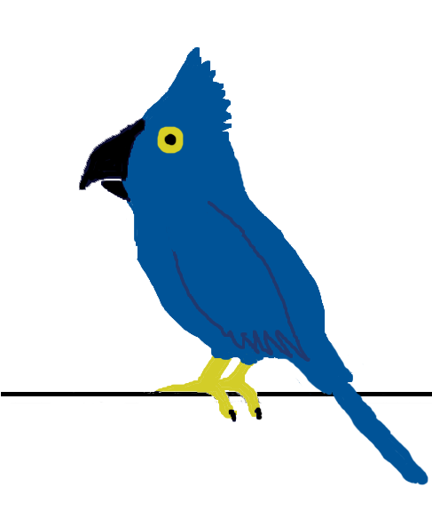 Illustration of a blue parrot : Free Stock Photo