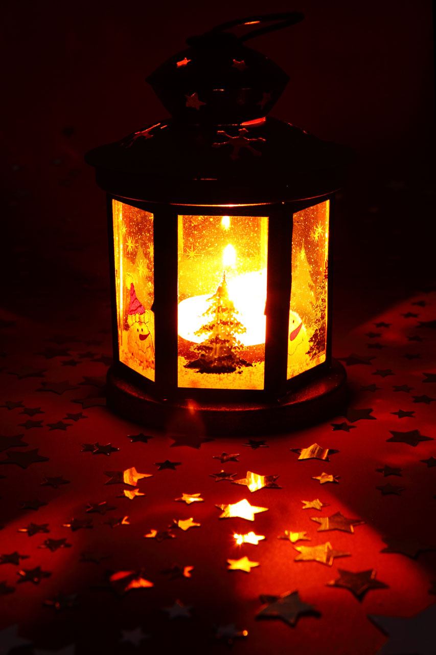 A Christmas lantern : Free Stock Photo