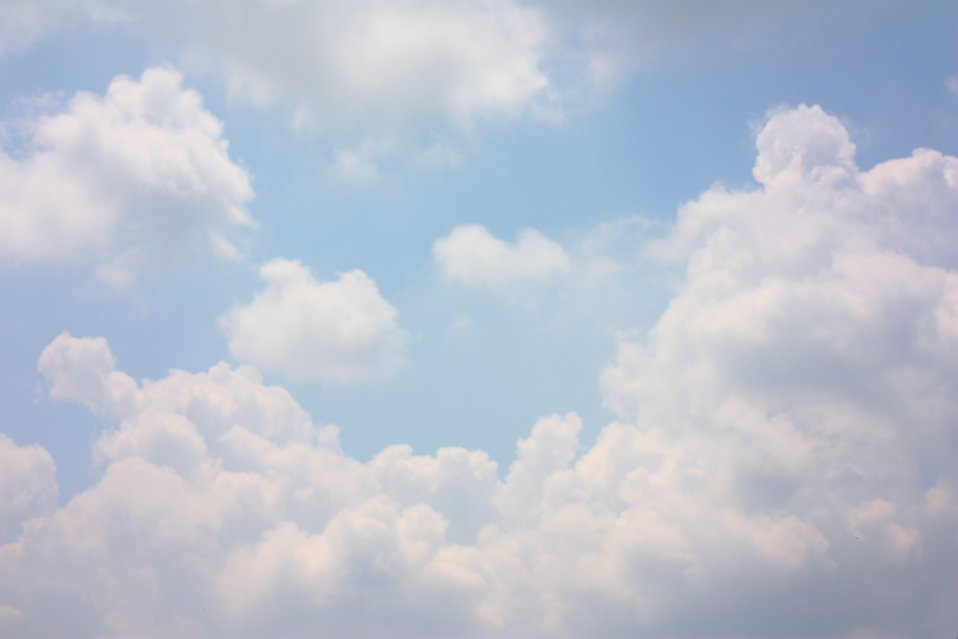 clouds free stock photo white clouds in a blue sky 11783