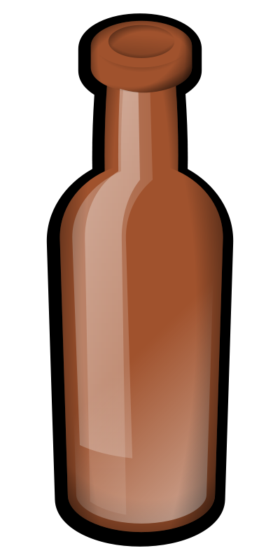 Illustration of a brown beer bottle : Free Stock Photo