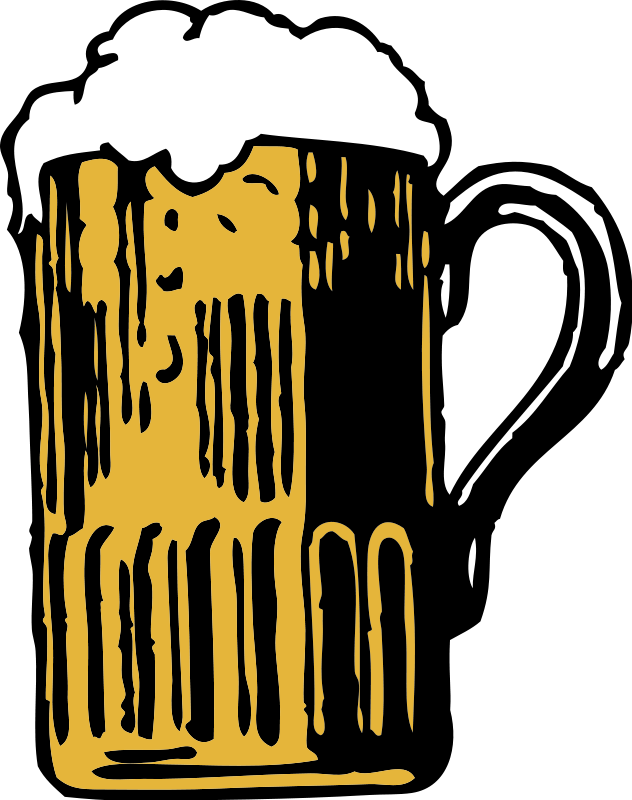 Illustration of a foamy mug of beer : Free Stock Photo