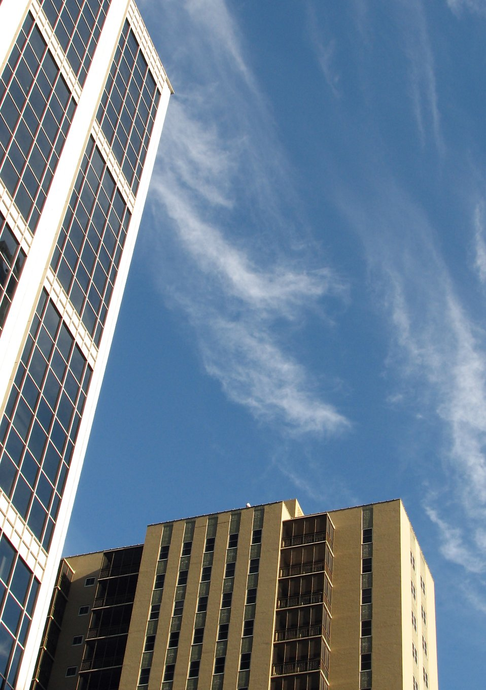 Modern buildings with a blue sky background : Free Stock Photo