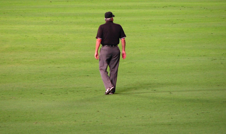 A baseball umpire standing on a field : Free Stock Photo