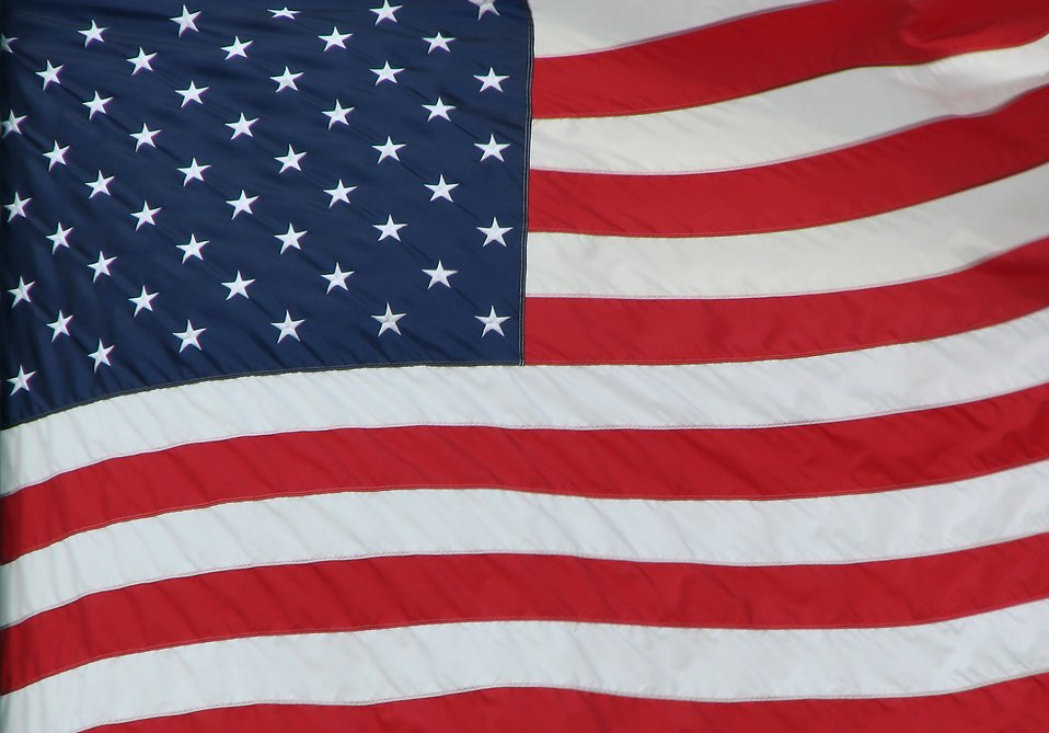 Close-up of an American flag : Free Stock Photo