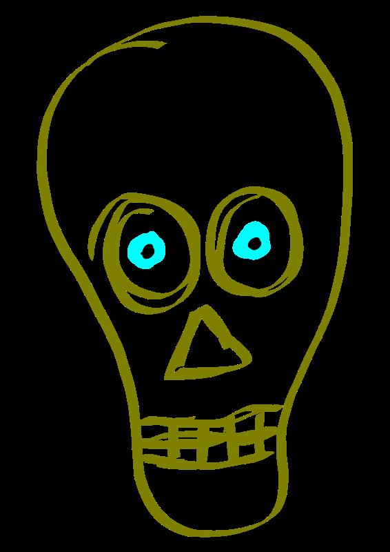 Illustration of a human skull : Free Stock Photo